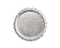 Nunn Design Sterling Silver (plated) Circle Ornate Grande Brooch 39mm