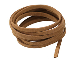 Camel Microsuede Flat Cord 5mm