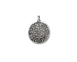 Zola Elements Antique Silver (plated) Henna Coin Drop 15x18mm