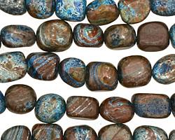 Blue Calsilica Jasper Tumbled Nugget 8-9x7-8mm