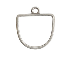 Nunn Design Antique Silver (plated) Open Half Oval Frame Pendant 28.5x31mm