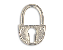Vintaj Pewter Trunk Lock 19x30mm
