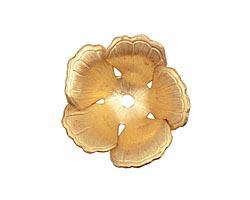 Brass 5 Petal Flower Bead Cap 9x23mm