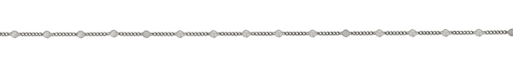 Antique Silver (Plated) Pressed Coin Curb Chain