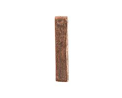 Nunn Design Antique Copper (plated) Organic Flat Rectangle Pendant 6x30mm