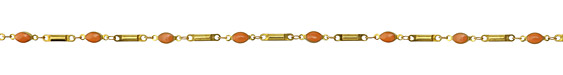 Zola Elements Coral Oval & Bar Brass Chain