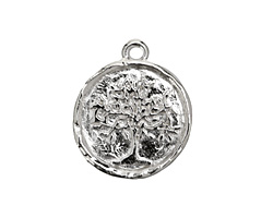 Nunn Design Sterling Silver (plated) Tree of Life Charm 20x25mm