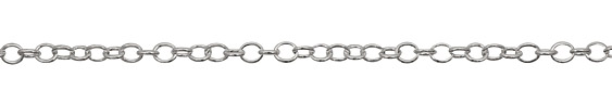 Silver (plated) Oval Cable Chain