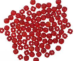 Czech Glass Siam Ruby Melon Round 3mm