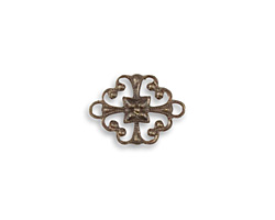 Vintaj Natural Brass Cathedral Connector 16x12mm