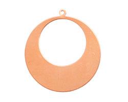 Copper Gypsy Hoop Blank 32x34mm