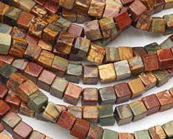 Red Creek Jasper Cube 7mm
