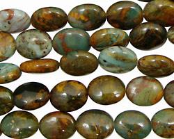 African Green Opal Flat Oval 10x8mm