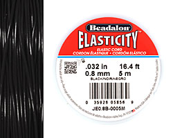Elasticity Black .8mm, 5 meters