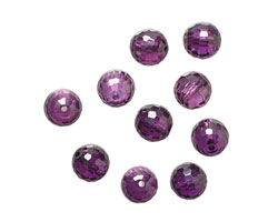 Violet Faceted Round 8mm