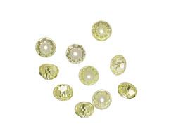 Lemon Ice Faceted Rondelle 4x6mm