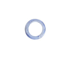 African Recycled Glass Light Sapphire Mini Ring 10-14mm