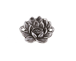 Green Girl Pewter Lotus Link 25x19mm