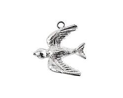 Nunn Design Sterling Silver (plated) Bird Charm 20x22mm