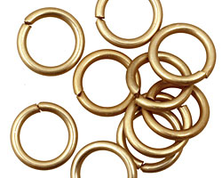 Gold Anodized Aluminum Jump Ring 14mm, 14 gauge (9.6mm inside diameter)