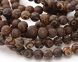 Tibetan (Dzi) Agate (dark) Round 8mm