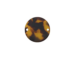 Zola Elements Tortoise Shell Matte Acetate Coin Link 20mm