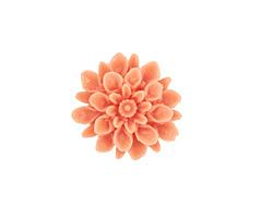 Opaque Light Coral Lucite Dahlia Flower Cabochon 16mm