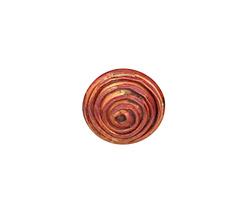 Patricia Healey Copper Small Spiral Button 15mm