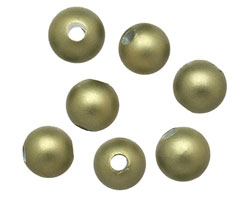 Olive (matte) Shell Pearl Round (large hole) 10mm