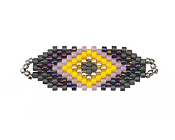 Pansy Hand Woven Focal Piece 35x12mm