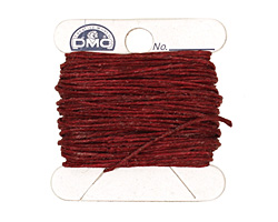 Maroon Irish Waxed Linen 4 ply