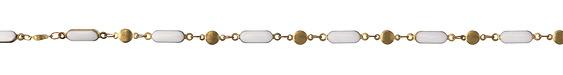 Zola Elements Marshmallow Oblong Bar & Disk Brass Chain