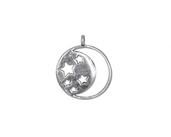 Zola Elements Antique Silver (plated) Starry Night Charm 15x18mm