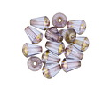 Czech Glass Bronzed Lavender Faceted Drop 8x6mm