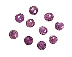 Violet Faceted Round 4mm