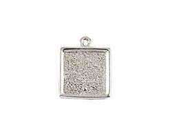 Nunn Design Sterling Silver (plated) Mini Square Frame Charm 15x17mm