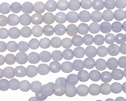 Chalcedony Faceted Round 4mm