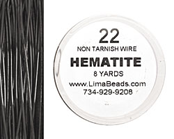 Parawire Hematite 22 gauge, 8 yards