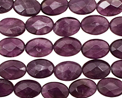 Amethyst Faceted Flat Oval 12x8mm