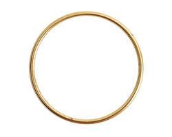 Nunn Design Antique Gold (plated) Open Frame Grande Hoop 49mm
