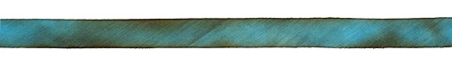 """Copper Patina Hand Dyed 100% Silk Ribbon 7/16"""""""