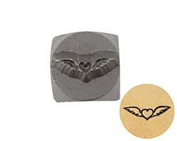 Heart w/ Wings Metal Stamp 6mm