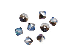 Swarovski White Opal Sky Blue Faceted Bicone 6mm (5301)