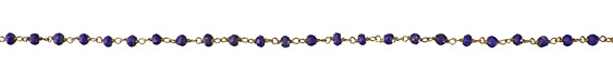 Lapis Faceted Rondelle 4mm Gold (plated) Bead Chain