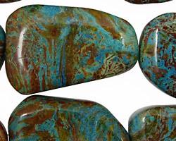 Blue Calsilica Jasper Flat Freeform Slab 13x11-35x26mm