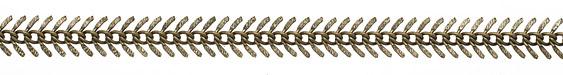 Antique Brass Fishbone Chain 7x15mm