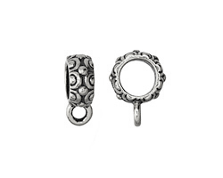 TierraCast Antique Silver (plated) .25 ID Oasis Bail 4x13mm