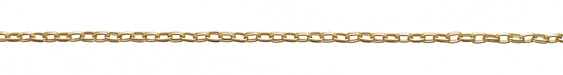Satin Hamilton Gold (plated) Double Oval Cable Chain