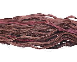 Coffee 100% Silk Sari Ribbon