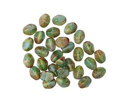 Czech Glass Jungle Picasso Pinch Bead 5x4mm